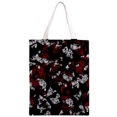 Red, white and black abstract art Classic Light Tote Bag