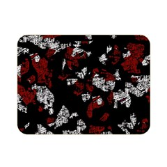 Red, white and black abstract art Double Sided Flano Blanket (Mini)