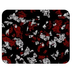 Red, white and black abstract art Double Sided Flano Blanket (Medium)