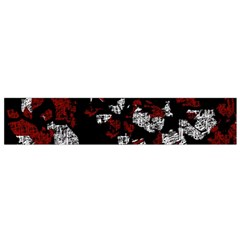 Red, white and black abstract art Flano Scarf (Small)