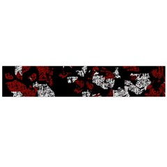 Red, white and black abstract art Flano Scarf (Large)