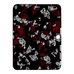 Red, white and black abstract art Samsung Galaxy Tab 4 (10.1 ) Hardshell Case