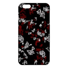 Red, white and black abstract art iPhone 6 Plus/6S Plus TPU Case
