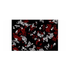 Red, white and black abstract art Satin Wrap