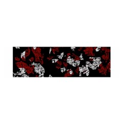Red, white and black abstract art Satin Scarf (Oblong)