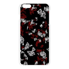 Red, white and black abstract art Apple Seamless iPhone 6 Plus/6S Plus Case (Transparent)