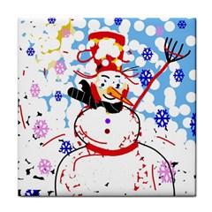 Snowman Tile Coasters