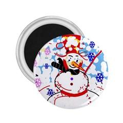 Snowman 2.25  Magnets
