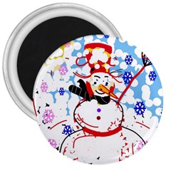 Snowman 3  Magnets