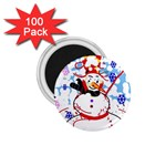 Snowman 1.75  Magnets (100 pack)  Front