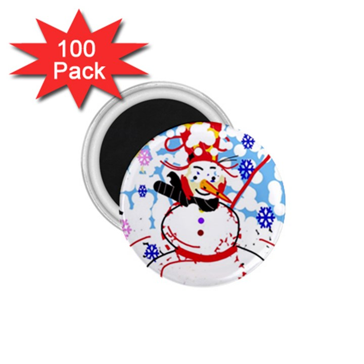 Snowman 1.75  Magnets (100 pack)