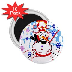 Snowman 2.25  Magnets (10 pack)
