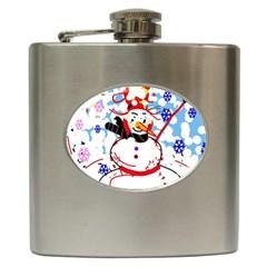 Snowman Hip Flask (6 oz)