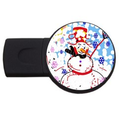 Snowman USB Flash Drive Round (2 GB)