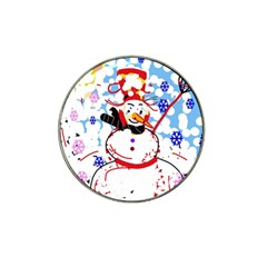 Snowman Hat Clip Ball Marker (4 pack)