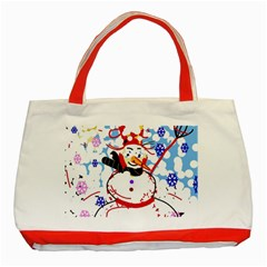 Snowman Classic Tote Bag (Red)