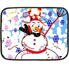 Snowman Double Sided Fleece Blanket (Mini)
