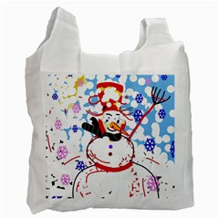 Snowman Recycle Bag (One Side)
