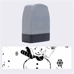 Snowman Name Stamps 1.4 x0.5  Stamp