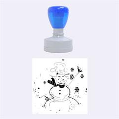 Snowman Rubber Round Stamps (Medium)