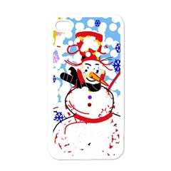 Snowman Apple iPhone 4 Case (White)