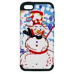 Snowman Apple iPhone 5 Hardshell Case (PC+Silicone)