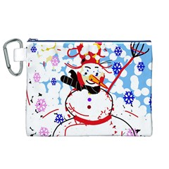 Snowman Canvas Cosmetic Bag (XL)
