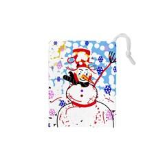 Snowman Drawstring Pouches (XS)
