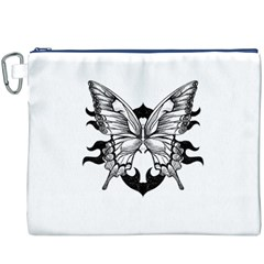 Butterfly Wings Tattoo Canvas Cosmetic Bag (XXXL)