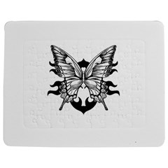 Butterfly Wings Tattoo Jigsaw Puzzle Photo Stand (Rectangular)