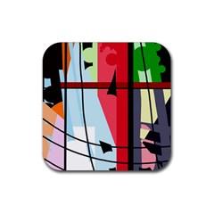 Window Rubber Coaster (Square)