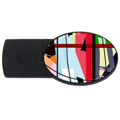 Window USB Flash Drive Oval (4 GB)