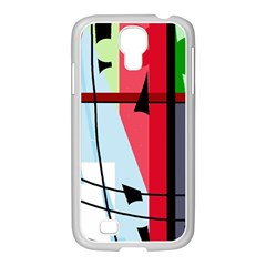 Window Samsung GALAXY S4 I9500/ I9505 Case (White)