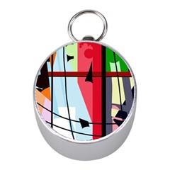 Window Mini Silver Compasses