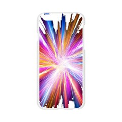 Colorful Abstract Light Rays Apple Seamless iPhone 6/6S Case (Transparent)