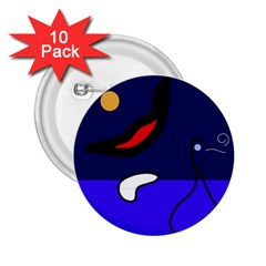 Night duck 2.25  Buttons (10 pack)