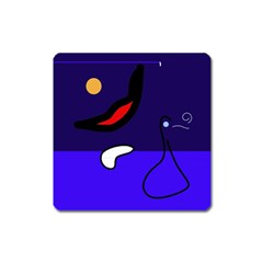 Night duck Square Magnet