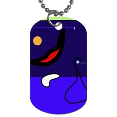 Night duck Dog Tag (Two Sides)