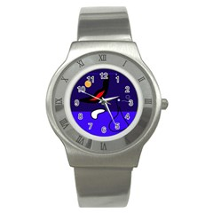 Night duck Stainless Steel Watch