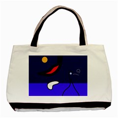 Night duck Basic Tote Bag (Two Sides)