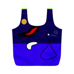 Night duck Full Print Recycle Bags (M)