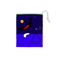 Night duck Drawstring Pouches (Small)
