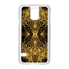 Beautiful Gold Brown Traditional Pattern Samsung Galaxy S5 Case (white)