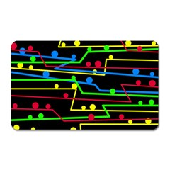 Stay in line Magnet (Rectangular)