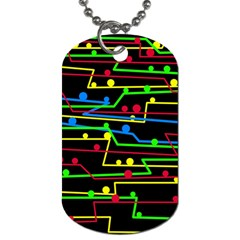 Stay in line Dog Tag (One Side)