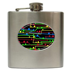 Stay in line Hip Flask (6 oz)