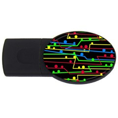 Stay in line USB Flash Drive Oval (1 GB)