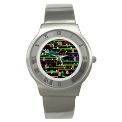 Stay in line Stainless Steel Watch