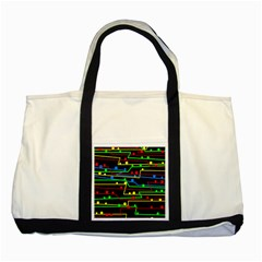 Stay in line Two Tone Tote Bag
