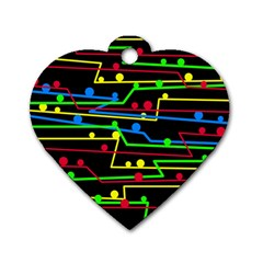 Stay in line Dog Tag Heart (Two Sides)